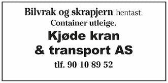 Kjøde Kran & Transport AS logo