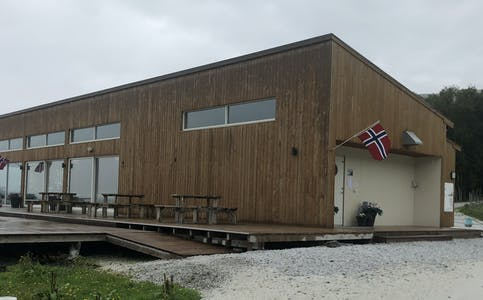 Strandhuset på Hakallestranda.