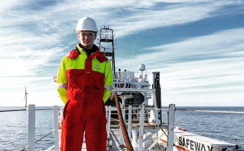 Om bord på subsea-fartøyet «Olympic Intervention IV» i Østersjøen. FOTO: Privat