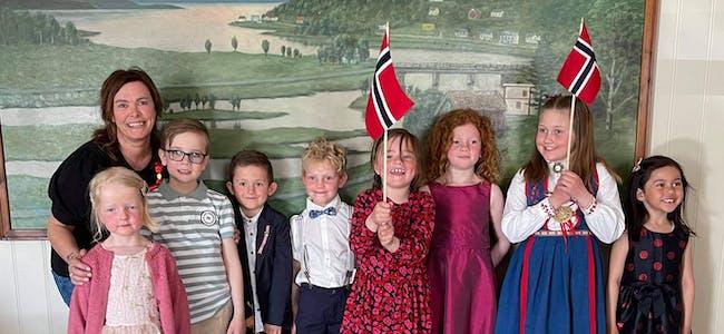 Barnekoret FRAM og fleire er klare med 17.mai- sending.