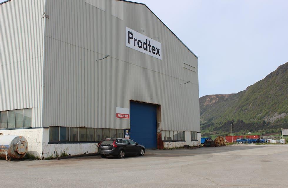 Prodtex-hallen på Fiskåholmen.
