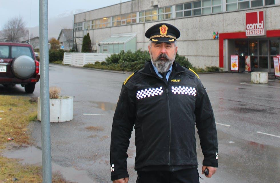 Politistasjonssjef i Vanylven, Tor Sæther.