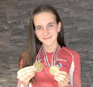 BRONSE i slegge og diskos, og ein fjerdeplass i lengde. Nikoline Thunem gjorde det godt i UM i Trondheim i helga.